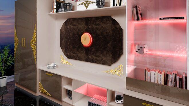 Секция Рубин с LED осветление