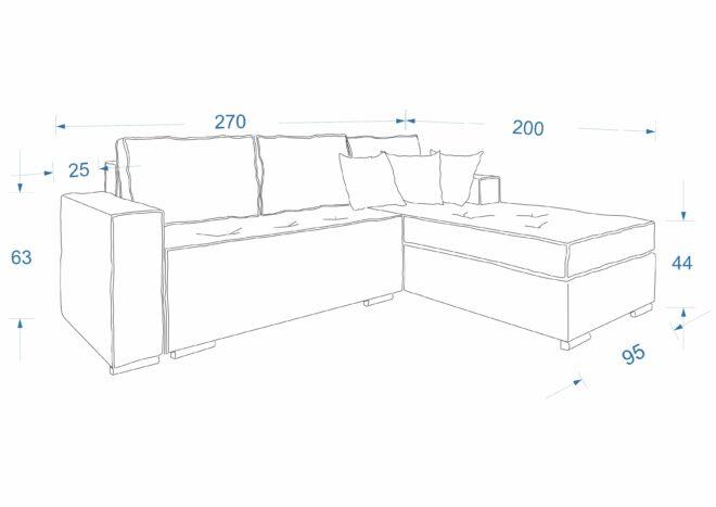 Схема ъглов диван Прайм